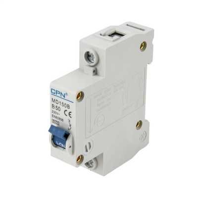 Cudis 50 Amp 6kA Single Pole (Type B) MCB
