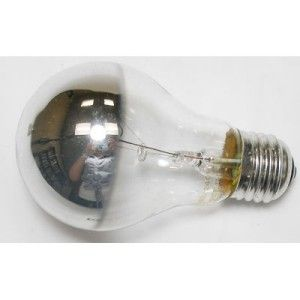 60W E27 ES Round Crowned Silvered Lamp