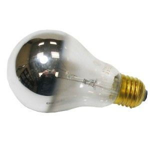 100W E27 ES Round Crowned Silvered Lamp