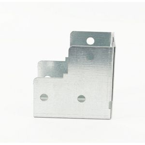 50x50mm Galvanised Trunking 90° Internal Elbow Bend