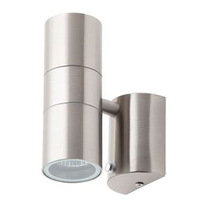 Leto Stainless Steel Up/Down Wall Light with Photocell