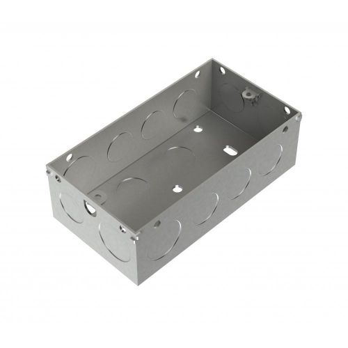 Metpro 47mm 2 Gang Flush Steel Back Box