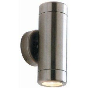 Exterior Stainless Steel GU10 2x35W Twin Wall Light