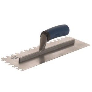 Faithfull Soft Grip Notched Trowel Stainless Steel 11 x 4 1/2in