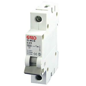 Garo 25 Amp Single Pole (Type C) MCB