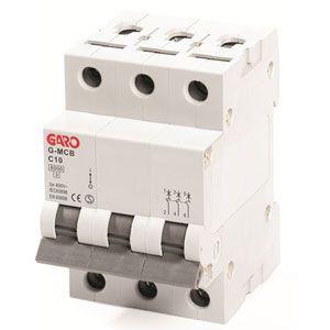 Garo 10 Amp Triple Pole (Type C) MCB