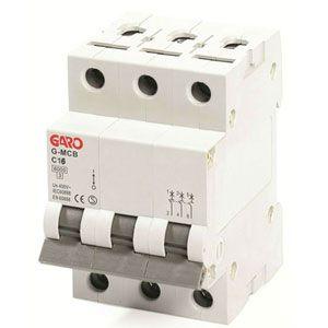 Garo 16 Amp Triple Pole (Type C) MCB
