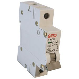 Garo 63 Amp Single Pole (Type D) MCB