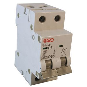 Garo 6 Amp Double Pole (Type D) MCB