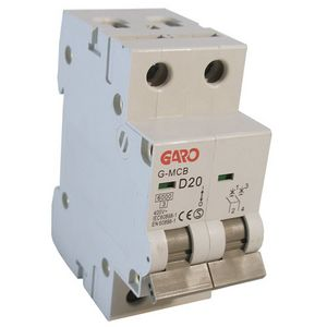 Garo 20 Amp Double Pole (Type D) MCB