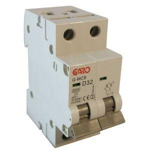 Garo 32 Amp Double Pole (Type D) MCB
