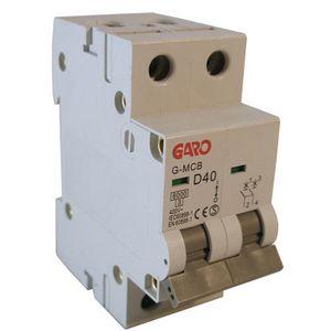 Garo 40 Amp Double Pole (Type D) MCB