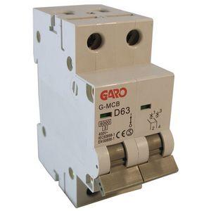 Garo 63 Amp Double Pole (Type D) MCB