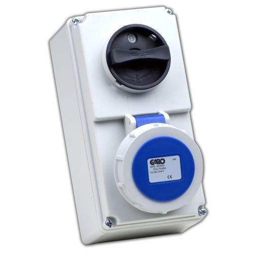 Garo 16 Amp IP67 3 Pin 220V Interlocked Socket