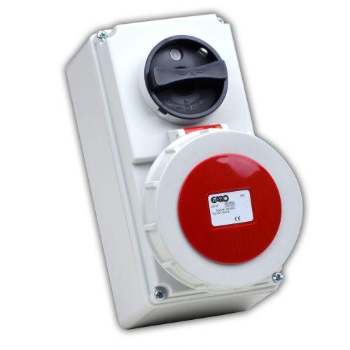 Garo 32 Amp IP67 5 Pin 400V Interlocked Socket