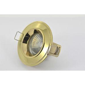 Halolite Fixed Cast IP44 MR16 Downlighter Polished Brass