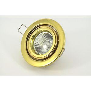 Halolite Tilt Round Polished Brass 12V Low Voltage Downlight