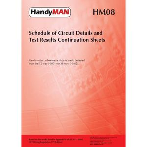 HM08 Schedule of Circuit Details & Test Condition Sheets