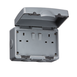 IP66 13A DP Switched Socket