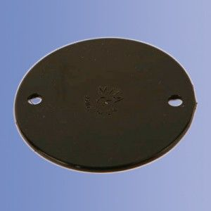 50mm PVC Black Box Lid