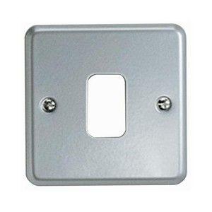 MK Grid Plus 1 Gang Aluminium Surface Grid Plate