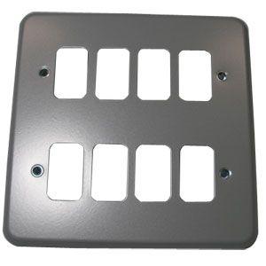 MK Grid Plus 8 Gang Aluminium Surface Grid Plate