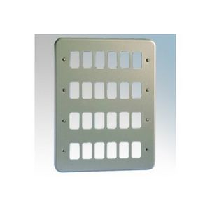 MK Grid Plus 24 Gang Aluminium Surface Grid Plate