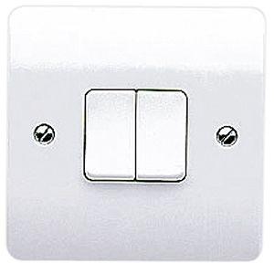 MK Logic Plus 10 Amp 2 Gang 2 Way SP Switch
