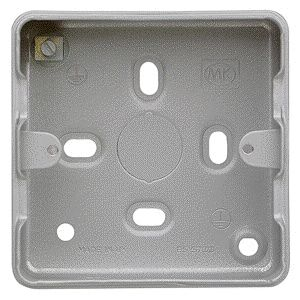 MK 1 Gang & 2 Gang Grid Surface Metal Box