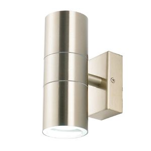 Leto Up & Down GU10 Wall Light Stainless Steel