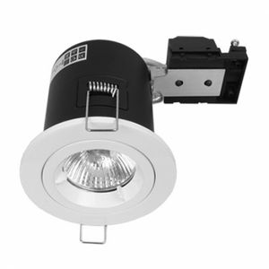 Fire Rated Twist & Lock GU10 Fixed White Downlight