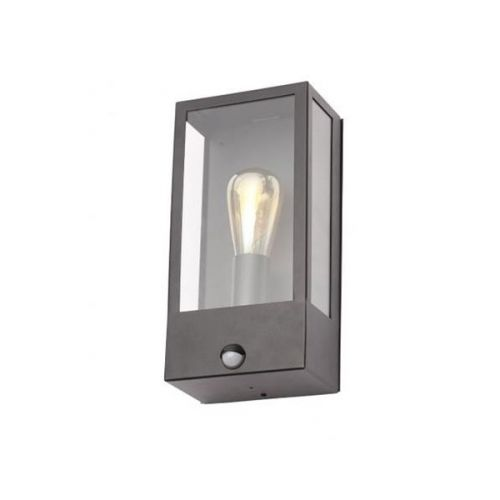 Minerva Single Light Outdoor Wall Fitting in a Black Finish With