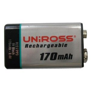 PP3 Type (single) Rechargheable Battery
