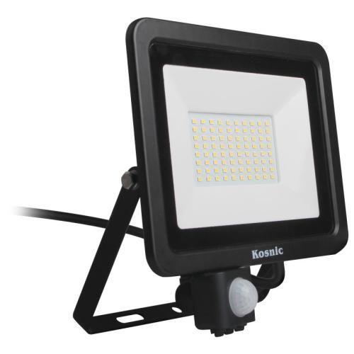 Rhine 50W LED Floodlight With PIR IP65 6500K Black