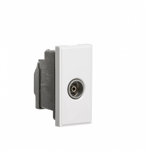 Screened TV Outlet 25 x 50mm - White