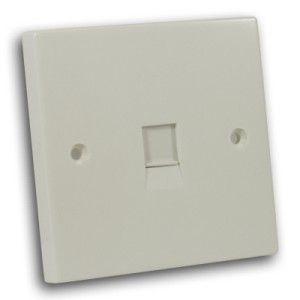 Single RJ45 Outlet Off White