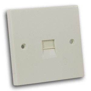 Single Secondary Telephone Outlet Off White