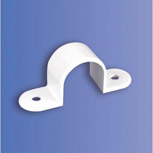 25mm PVC Plain Saddle Per 100 (DSS3 WH)