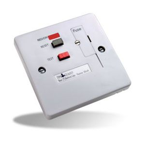 RCD White Fused Connection Unit Socket - TFP10WL