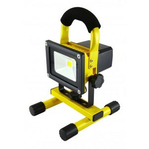 10 Watt Cordless Portable Rechargeable Yellow Floodlight / Work