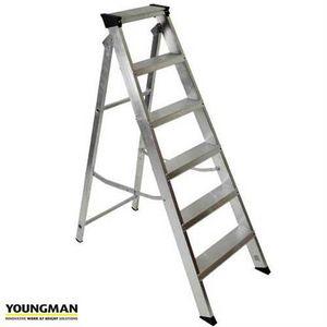 Youngman 306996 Builders Steps Aluminium - 6 Treads