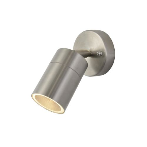 Zinc Leto Adjustable GU10 Wall Light Stainless Steel